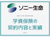 ソニー生命 学資保険の契約内容と実績