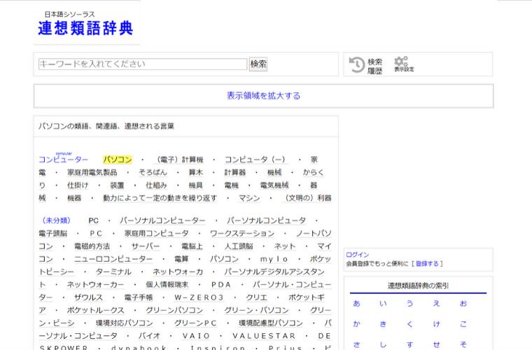 ブログのアクセスアップ方法:連想類語辞典